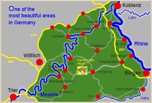 German Property Services In Zell Mosel Your Property Service - Rhine valley germany map